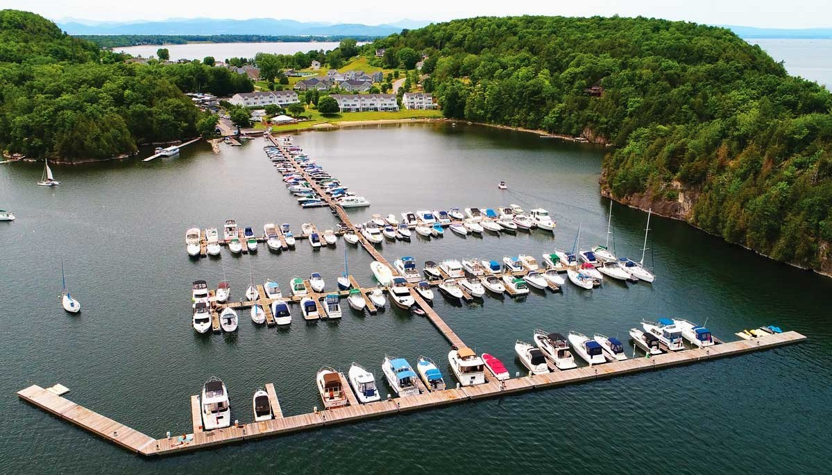 The Dock Doctors designed, manufactured and installed the marina at Marble Island