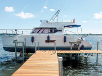 Ultimate Vertical Boat Lift and Mega Dock
