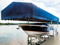 12,000 capacity ultimate boat lift with custom canopy