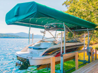 Sunbrella® canopy and our Ultimate Boat Lift