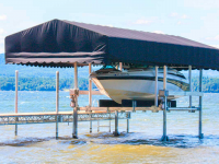 Sunbrella® boat lift canopy and our ultimate boat lift