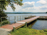 Commercial ADA floating dock at a state campground