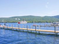 Commercial public pile dock for Lake George Village, Lake George, NY