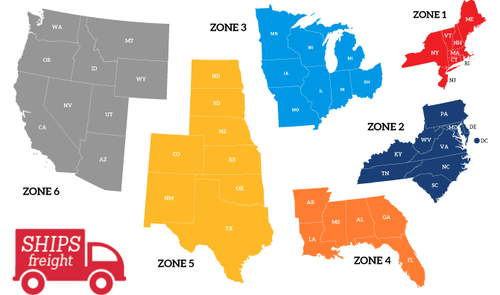 Freight Shipping Zones