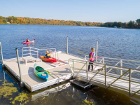 Also available is our independent floating kayak launch