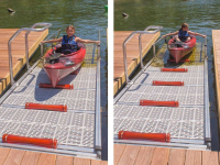 Dock & launch system built into a custom dock