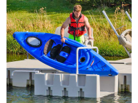 The YAKport kayak launch connects to fixed or floating docks