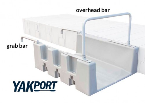 Yakport for safely launching kayak from your dock