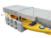 YAKport can be installed to virtually any floating or fixed dock and can be used for kayaks, canoes or stand up paddle boards (SUP) up to 34