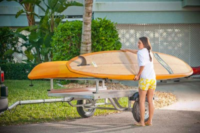 Our paddlesport trailers make transporting your kayak, canoe or paddleboard easy and safe