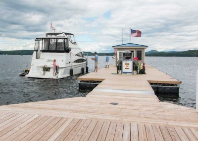 State of the art full service dock providing fuel service and pump-out 800' from shore