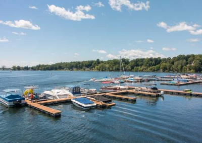 The Dock Doctors designed, manufactured and installed the new 110-slip marina with Ipe decking