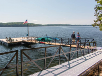 Residential floating dock designed for wheelchair access