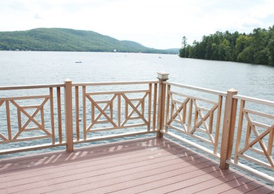 Custom cedar railings