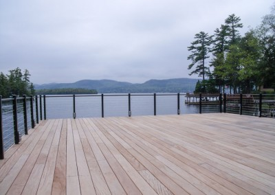 Cable rail offers an unobstructed view from the boathouse sundeck