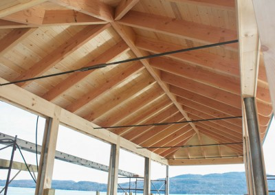 Interior view of boathouse roof