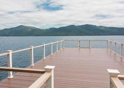 Cable rail offers an unobstructed view from the sundeck of the boathouse