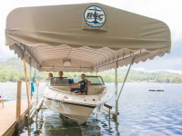 5,000 lb. vertical boat lift with optional