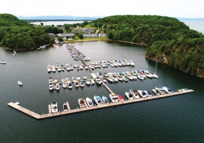 Commercial floating marina and wave attenuators - The Marina at Marble Island