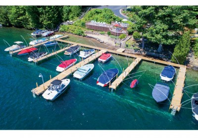 Commercial pile dock system at a homeowners association, Lake George, NY
