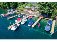 Pile docks at Juniper Hill Homeowners Association, Lake George, NY