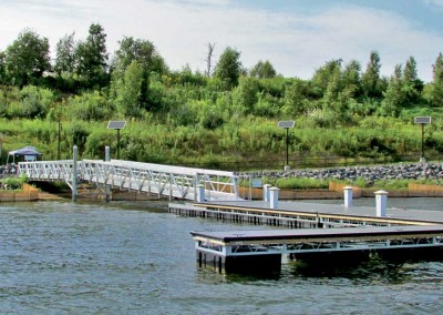 Commercial Gangway and Floating Docks at Lakeview Point Landing, Onondaga, NY