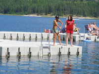State park docks using Connect-A-Dock 2000 series modular floating docks