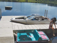 Boat Slip with Connect-A-Dock 2000 series modular floating docks