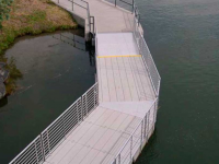 Wetland walkway with Connect-A-Dock 2000 series modular floating docks