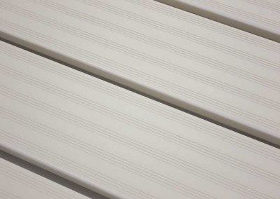 Aluminum decking - resists growth of mold and mildew - low maintenance and cool to the touch