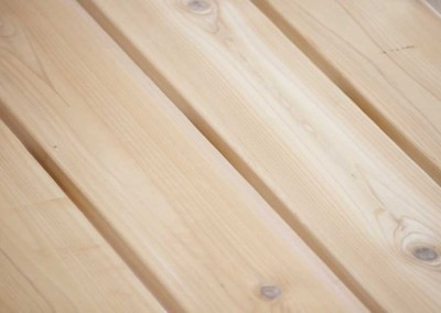 Cedar decking (Red Cedar) will weather to a soft, silvery gray