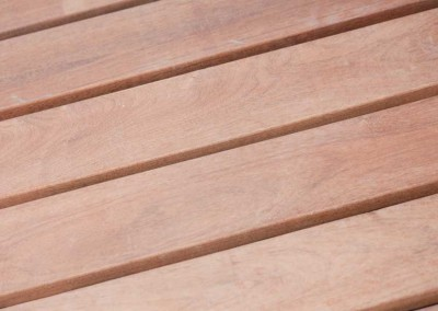 Optional Ipe decking - extremely hard, durable and naturally resistant to rot and insects.
