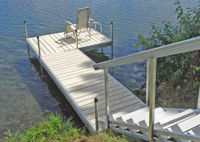 Aluminum decking and our portable aluminum stairs