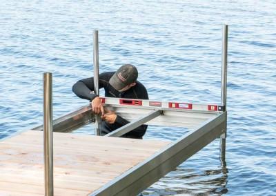 Installation of our Medium Duty Aluminum Leg Dock