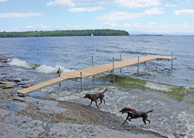 2' x 10' catwalk (standard duty steel) for transitioning from shoreline to dock)