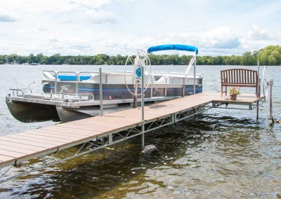 Steel truss wheel docks with NyloDeck decking