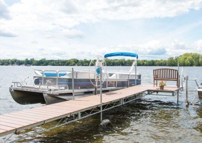 Wheel dock with composite decking