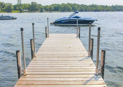 6' wide sections optimize dock space for all your activities