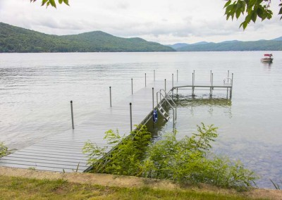 Our heavy duty steel truss leg docks with NyloDeck® decking on Lake George