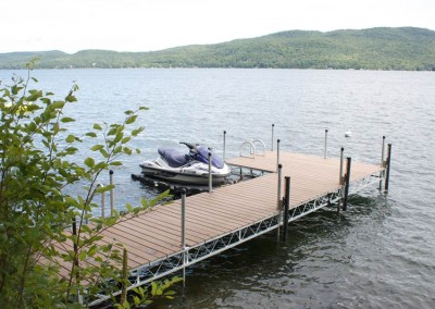 Optional composite decking in a variety of colors