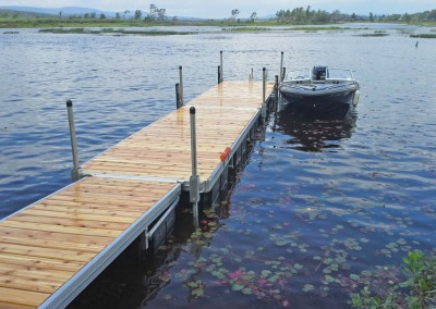 Aluminum frame floating docks with our exclusive track frame