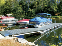 Heavy duty aluminum floating docks for a homeowners association, Dog Cove, NH