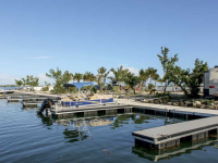 Aluminum floating docks at a campground, Key West, FL (these docks survived Hurricane Irma)
