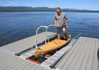 Grab rails for a smooth transition on and off the launch ramp