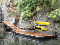 Paddle dock with powder coated frame and kayak storage rack