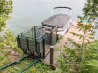 Easily access your waterfront site with a hillside trolley