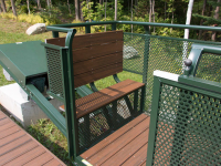PVC seat & decking in the hillside trolley car