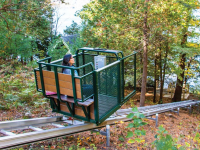 Our hillside trolleys are a unique alternative to stairs for hillside access