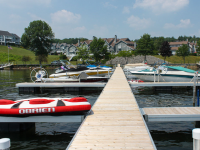 Floating Aluminum Docks at homeowners association, Lake George, NY
