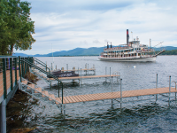 Articulating (lifting) docks at a homeowners association - Lake George, NY
